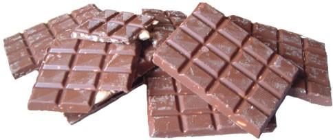 Milchschokolade mit Mandeln - gehackt